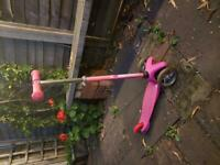 Small pink scooter