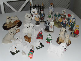 West Highland Terrier Figures.