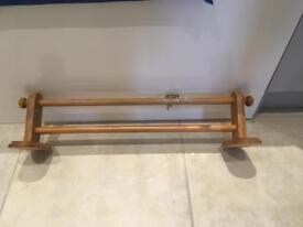 Wall mounted double towel rail