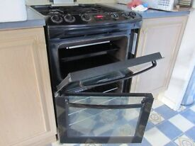 For Sale Zanussi black, double oven natural gas cooker - Model ZCG662GNC