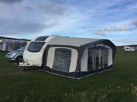 Bradcot Olympian luxury awning with A measurement of 915