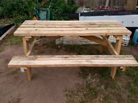 Pub style picnic bench