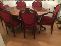 Italian Dining Table & 6 Chairs