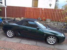 Classic MGF in British racing green