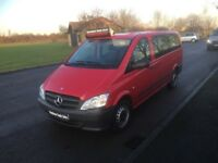 MERCEDES-BENZ VITO 2.1 115CDI Traveliner Long Bus 5dr (9 Seats) (red) 2014