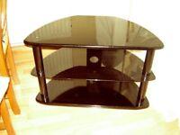 TV Stand. Black Glass Shelf £15