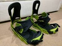 BURTON CARTEL SNOWBOARD BINDINGS LARGE GREEN