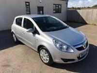 2007 Corsa 1.2 Club, 12 months mot, 3 months warranty, credit/debit cards accepted