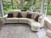 FAMA designer corner sofa and matching armchair