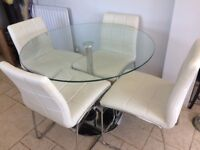 round glass table & chairs from Next.