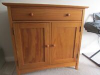 Cupboard, nest of tables and console table