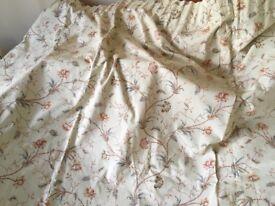 "Pair of Sanderson "" Curlicue"" curtains.....vintage 1981"