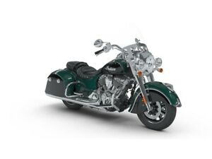 2018 Indian Motorcycles Springfield Metallic Jade/Thunder Black