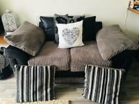 Grey and black Sofa