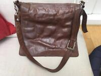 Leather satchel/ laptop bag