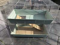 Guinea pig / Rabbit cage 2 tier plus accessories