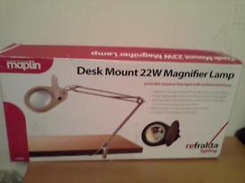 22w Fluorescent magnifying craft/hobby/engineers lamp