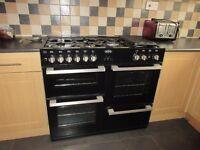 Belling range cooker Black dual fuel