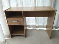 oak veneered writing desk