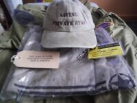 Saving private ryan crew shirts and cap , given to me at the end of filming . been in bag since