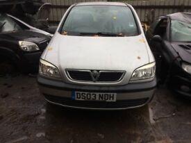2003 Vauxhall Zafira 16v Club MPV Petrol 1.8L Silver BREAKING FOR SPARES