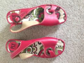 FLY London Red Sandals Size 5