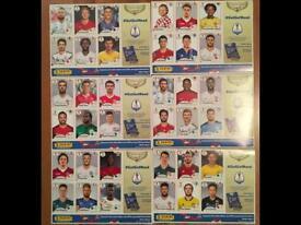 36x Panini World Cup 2018 Stickers Messi, Neymar, Suarez, De Bruyne, Lewandowski