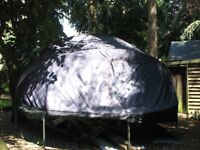 14ft Trampoline, with Trampoline tent and enclosure
