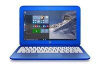 """Brand New In Box HP Stream Netbook/ Laptop in Aqua Blue 11.6"""" RRP £199.99-£249.99"""
