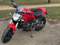 Ducati Monster 821 (2014/64) Red. Inc Bike Trac. 2900mi. 1 owner.