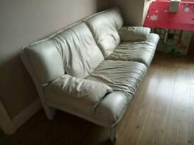 Free sofa 3 +2 white leather