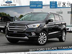 2017 Ford Escape TITANIUM**CUIR*TOIT*NAVI*CAMERA*BLUETOOTH*A/C**