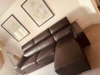 Leather Corner sofa with storage