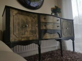 Large, Beautiful Serpentine Sideboard