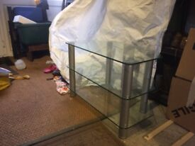 Glass Television table/stand