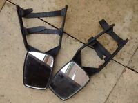 Towing mirrors and stabiliser blade with locking key