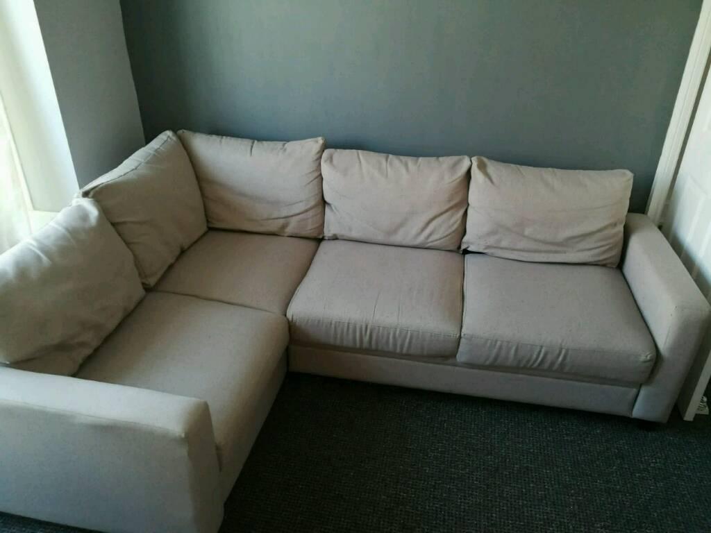 Hygena Seattle Left Hand Corner Sofa Bed With Storage