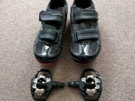 Shimano SPD Double Sided Clip in Bike shoes and Pedals