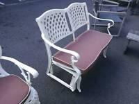 Cast aluminium swing bench