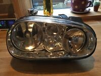 Vw golf front o/s headlight