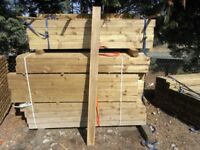 Timber fence post 100mmx100mmx1.8m