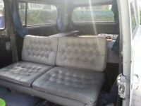 Electric reclining leather seat