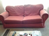 comfy 2 and 3 seater terracota sofas