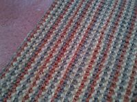 beautiful and colorful natural sisal mat or rug in very good condition