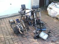 Honda CB250RS 1980 V With Reg Plate No V5c Or Wheels Good Project/Spares
