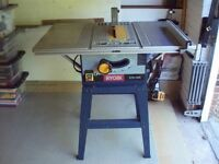 Ryobi bench saw model no BTS-1525 110v. Good condition.