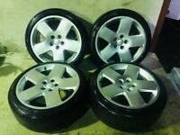 """GENUINE 18"""" AUDI FAT 5 WHEELS AND TYRES(CADDY,JETTA,GOLF,PASSAT,LEON,A3,A4,S LINE,GTI,R32,R LINE,A8)"""