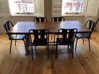 Large,wooden kitchen table