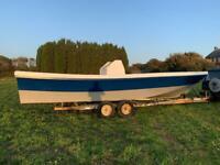 Cygnus 26 beach worker fishing boat