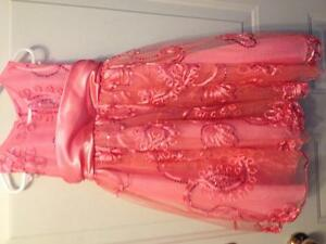 3t coral flower girl dress
